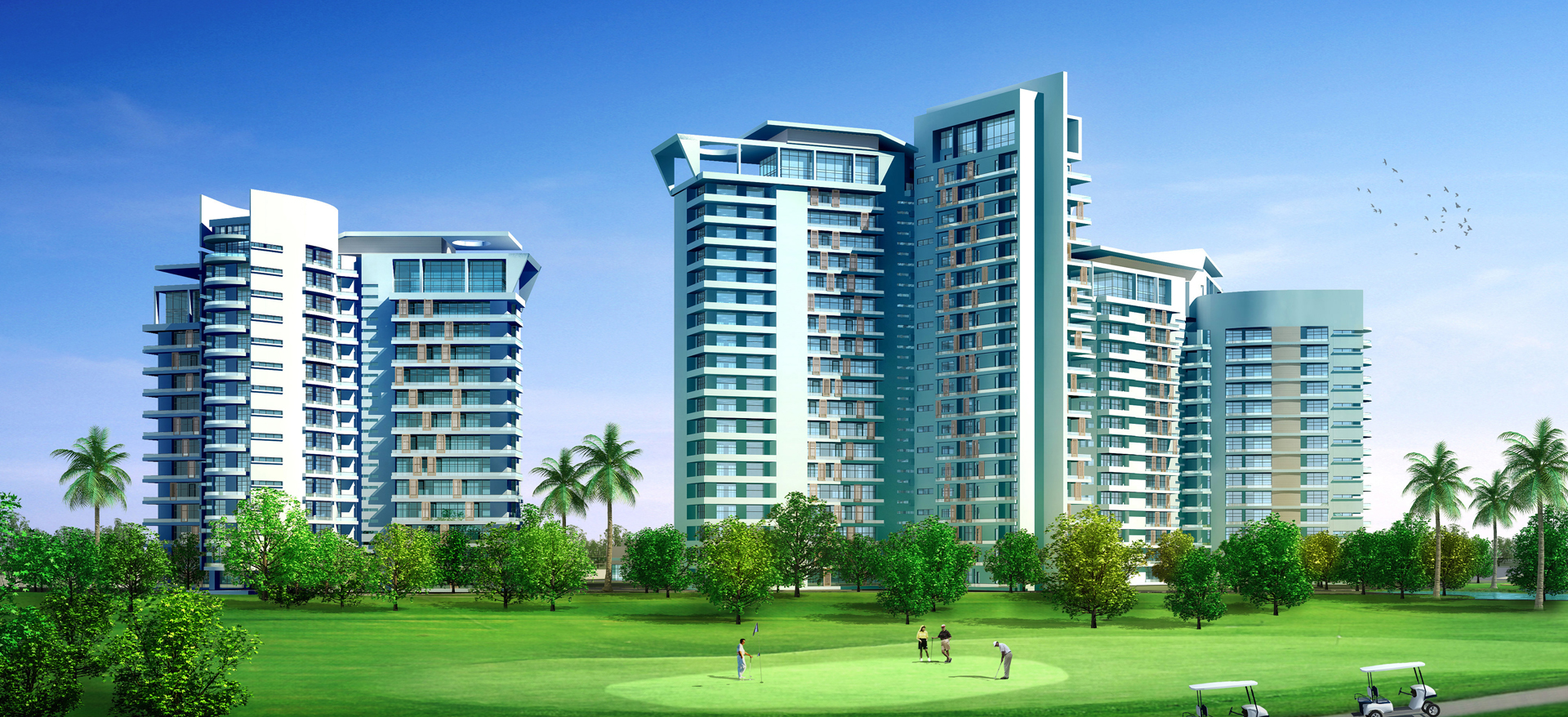 Golf View Apartments, Uttar Pradesh, India