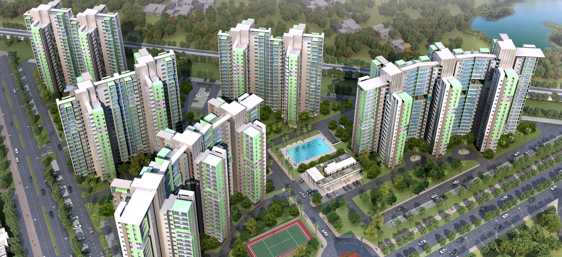 Sector M Group Housing Development, Uttar Pradesh, India