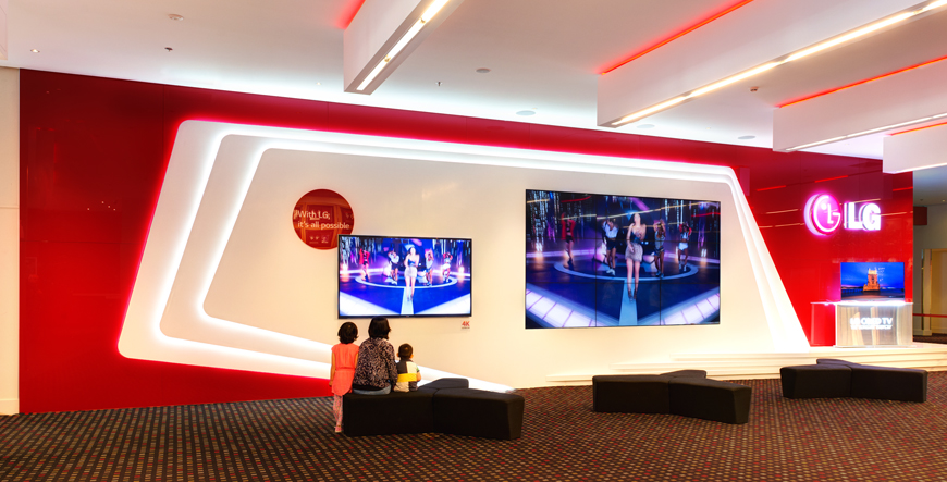 LG Experience Wall, Auckland